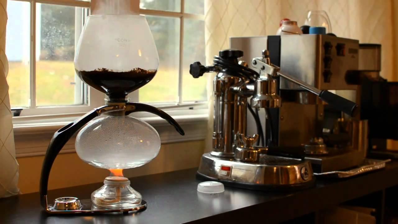 Cona vacuum pot coffee brewer high speed! - YouTube