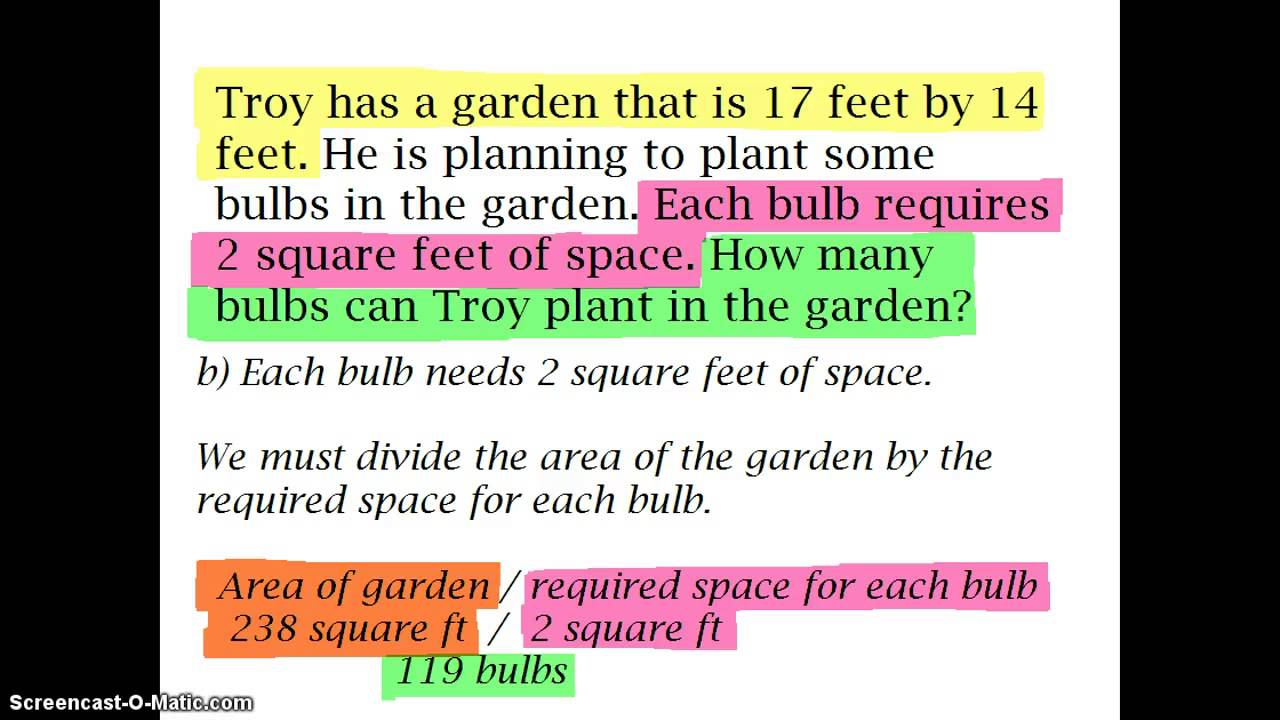 small resolution of Grades 7th to 9th ~ Multi-Step Word Problems: Find the Area - YouTube