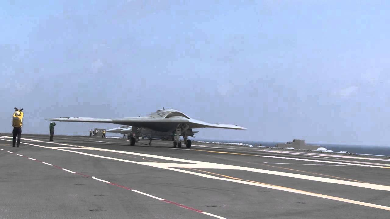 X 47b Ucas D Amp F A 18 Combined Operations Onboard Uss