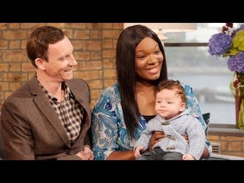 """Black Mum Gives Birth to White """"One in a Million Baby Model"""""""