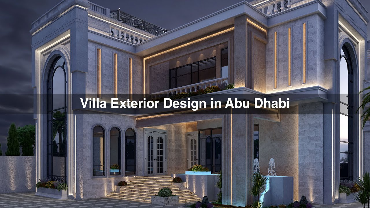 High Quality ALGEDRA Interior Design Luxury Villa Exterior Design In Abu Dhabi