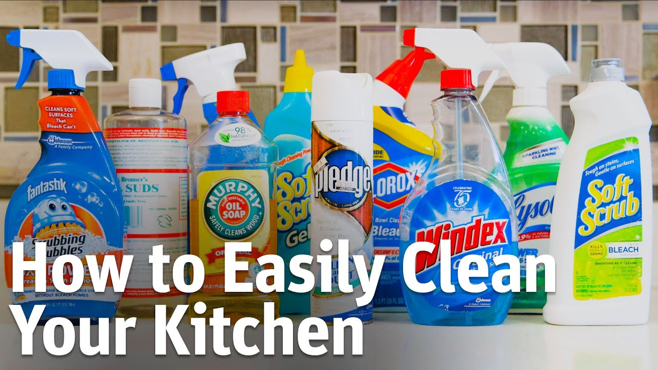 How To Easily Clean Your Kitchen With Household Items   YouTube