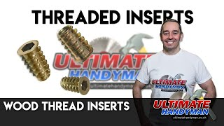 Wood thread inserts