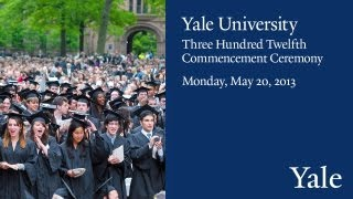Repeat youtube video Yale Commencement Ceremony 2013