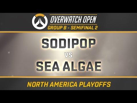 SODIPOP vs SEA ALGAE - GROUP B - SEMIFINAL 2 (OverwatchOpen NA Playoffs)