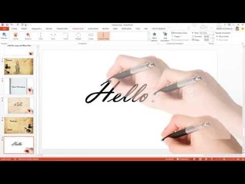 สาธิตเทคนิคการทำอนิเมชัน ปากกาเขียนตัวอักษร ด้วย PowerPoint