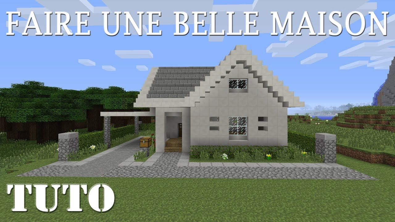 minecraft - comment faire une belle maison (ps4) - youtube