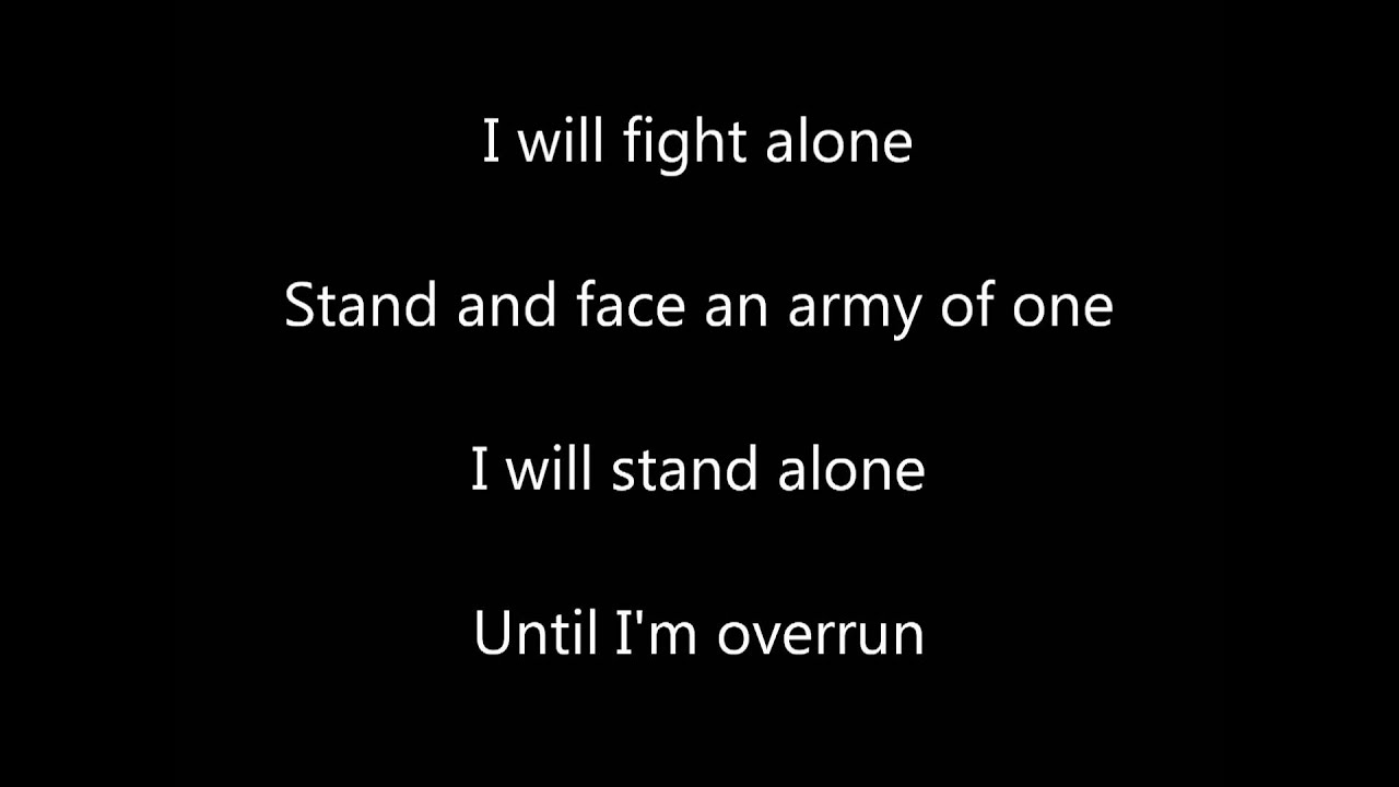I Will Stand Alone Firewind Lyrics