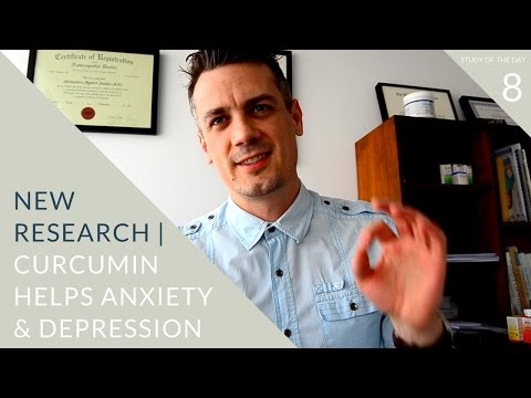 curcumin lowers ANXIETY & DEPRESSION | study of the day 8