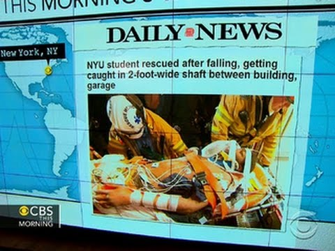 Headlines: NYU student rescued from narrow shaft after two-day ordeal