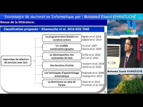 Soutenance doctorat en informatique par KHANOUCHE Mohand Said 10 dec