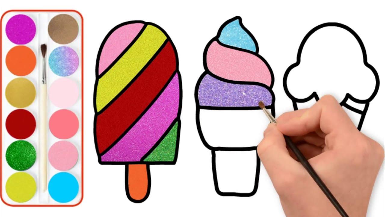 Dondurma Boyama Sayfasi Keceli Kalemlerimizle Dondurmamizi