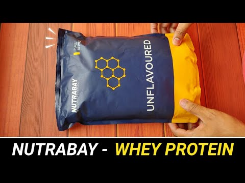 NUTRABAY - Whey Protein Honest Review !! 🇮🇳