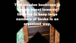 Hand Carved Indian Wooden Bookcases