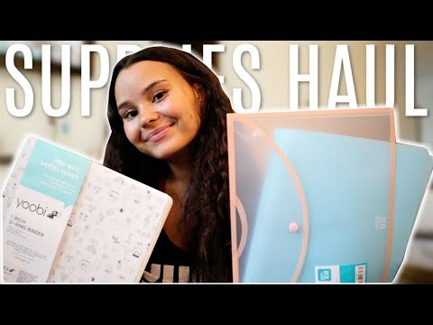 BACK TO SCHOOL SHOPPING AND HAUL 2019! *cute supplies!*