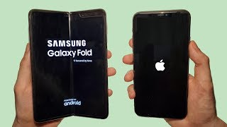 Galaxy Fold vs iPhone 11 Pro Max Speed Test, Battery, Speakers & Camera Test!