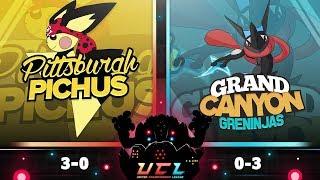 SLUGS? - UCL S3 W4 Pittsburgh Pichus VS Grand Canyon Greninjas - Pokemon Ultra Sumo LIVE WiFi Battle