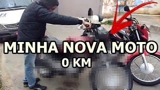 NOVA MOTO DE GRAU DO CANAL 0 KM   GRAU SAINDO DA HONDA (PUXOU, CORTOU E RASPOU)