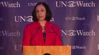 Iranian Dissident Marina Nemat Honored at UN Watch Gala Dinner, Receives 2014 Morris B. Abram Award