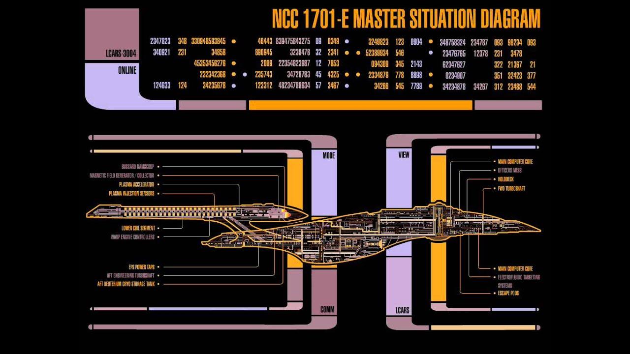 Star Trek Lcars 1701 E Master Situation Youtube Engineering Schematics