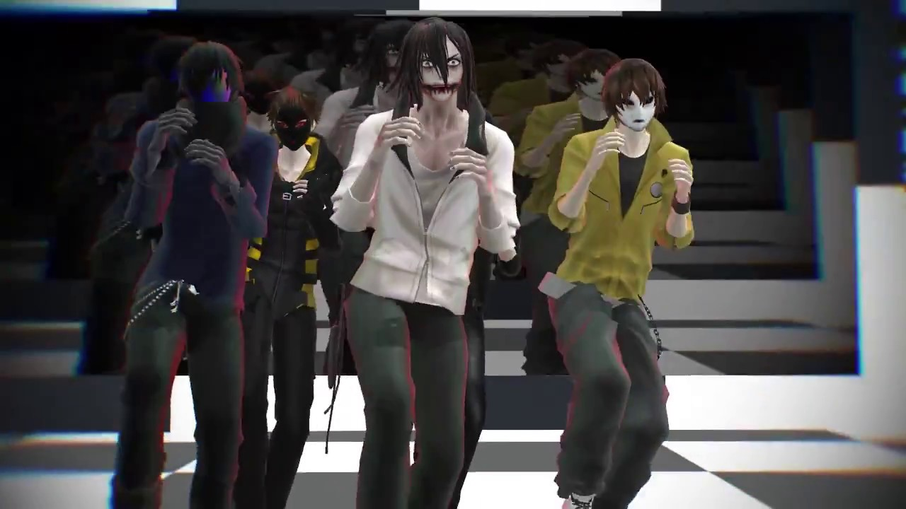 Mmd Creepypasta Fun Jeff Ej Toby Hoody Masky Youtube