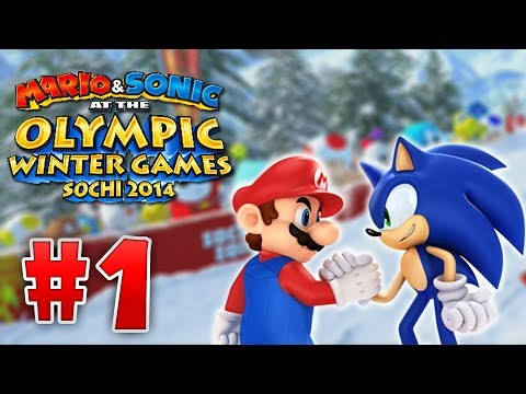 Mario and Sonic At the 2014 Sochi Olympic Winter Games - Part 1