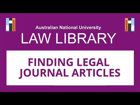 Finding Legal Journal Articles