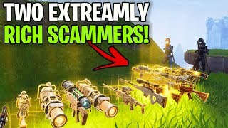 Two Extreamely Rich Scammers Lose Whole Inventory! (Scammer Get Scammed) Fortnite Save The World
