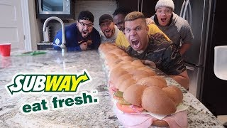 6 FOOT SUBWAY SUB IN 6 MIN CHALLENGE!!