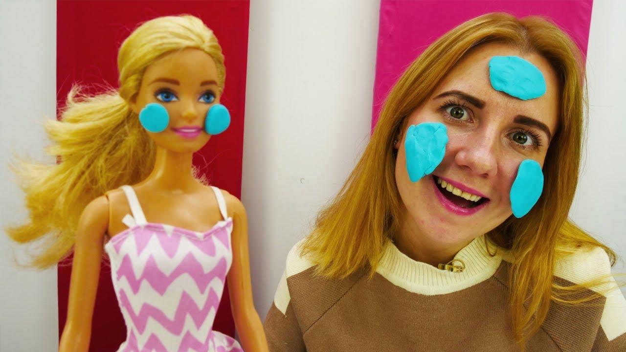 Как сделать маску для кукол фото 786