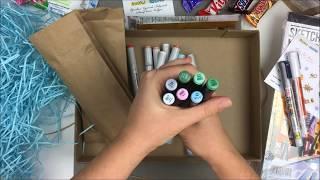 Вера Шерстобитова - обзор коробочки Doodle&Sketch NewYearBox (январь 2018)