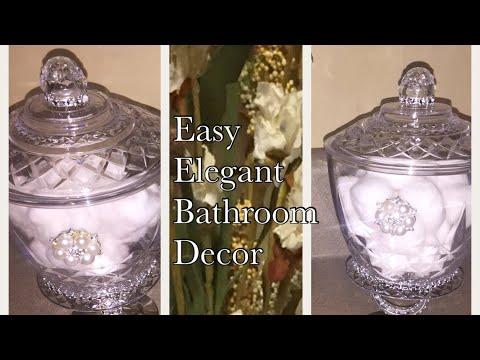 Dollar Tree DIY | Easy Elegant Bathroom Decor