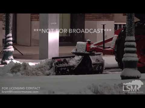 12-9-18 Hendersonville, North Carolina - Snowy Scenes - Christmas Lights - People Battling  Snow