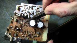 How to Repair Stereo Amp - The Sansui Amp, D1212 Diode Tip and bad glue tip