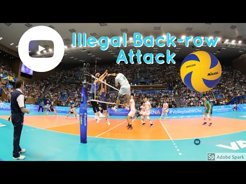 Volleyball Rules - Illegal Back Row Attack