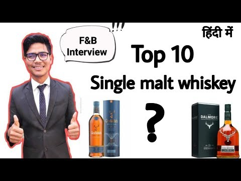 Top 10 Single Malt Whiskey Name !! F&B Interview Question !! By Indian Hoteliers