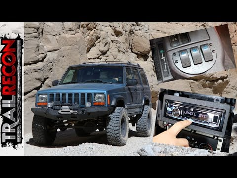 Custom Ashtray  Switch Panel and Stereo Install – Jeep XJ