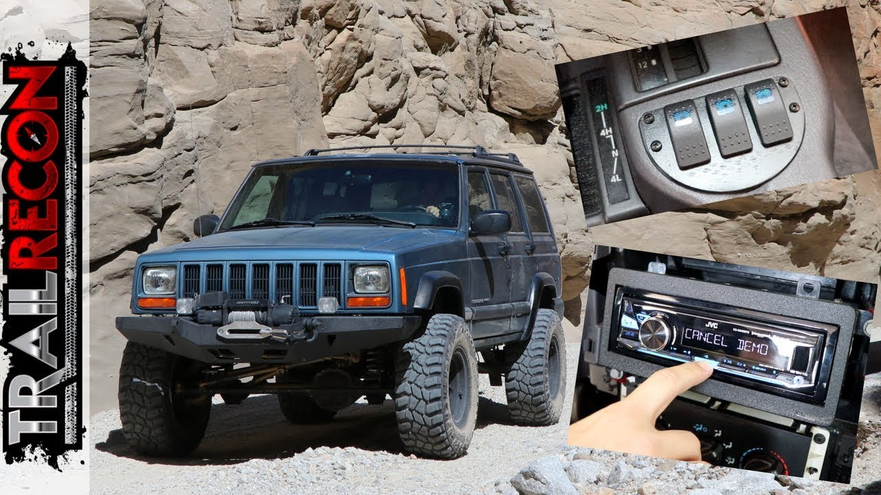 custom ashtray switch panel and stereo install jeep xj youtube rh youtube com Lifted Jeep YJ Jeep YJ Engine Compartment