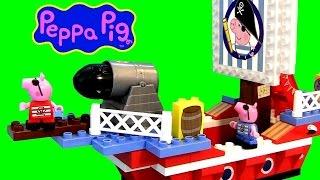 Peppa Pig Pirate Ship Toy Lego Blocks - Navio Barco Pirata De George Pig Juego De Construcción
