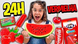 SARAH 24 HORAS COMENDO SÓ COMIDA VERMELHA !!!