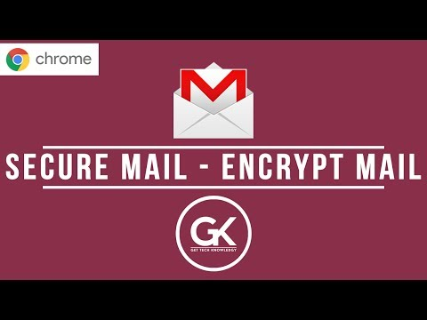 Send Encrypted Mail using Chrome Secure Mail Extension