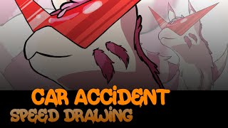 Speed Drawing - Car Accident