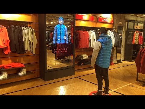 Interaction Design - NIKE Aeroloft digital retail experience