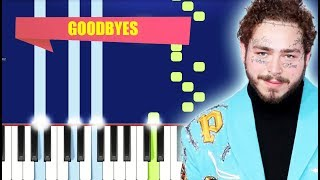 Post Malone - Goodbyes ft. Young Thug (Piano Tutorial) By MUSICHELP