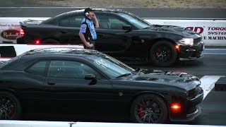 So,Who's Quickest ? Hellcat Charger or Challenger -drag racing