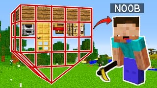 NOOB VS CASA INVERTIDA 😂 MINECRAFT TROLL + ROLEPLAY