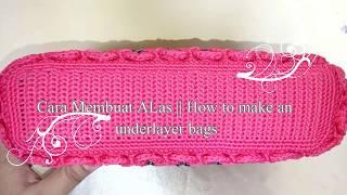 Crochet    Tutorial membuat alas tas persegi panjang