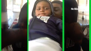 Kodak Black HITS HIS KID and MAKES HIM CRY then DIVES IN POOL!!!