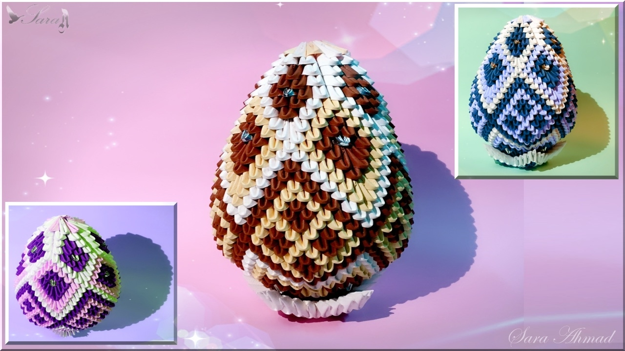 how to make 3d origami easter egg 3 youtube