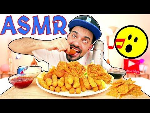 اصوات الاكل الحقيقية - أصابع الدجاج المحشية وبتيتة فنگرز وشيبس دوريتوس حار ! ASMR - Eating Sounds
